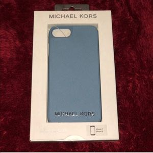 NWT iPhone 8/7/6 Sky Blue Michael Kors phone case